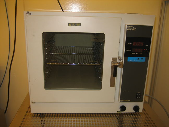 Picture of Vacuum oven - Fischer Scientific -Block Copolymer processing
